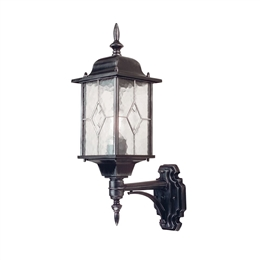 Elstead WX1 Wexford 1 Light Black Silver Up Wall Lantern