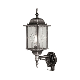 Elstead WX1/PIR Wexford 1 Light Black/Silver Wall Lantern WP1619