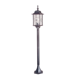 Elstead WX4 Wexford 1 Light Black/Silver Pillar Lantern WP1563