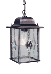 Elstead WX9 Wexford 1 Light Black/Silver Chain Lantern E190