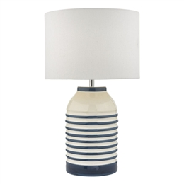 Dar ZAB4223 Zabe Table Lamp complete with Ivory Shade.