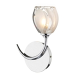 Dar Lighting ZAG0750 Polished Chrome Wall Light .