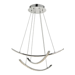 Dar ZAN0350 Zancara 3 light LED Crystal Pendant