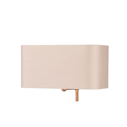 David Hunt Lighting ZOF1109-BZ Zoffany Marshmallow Silk Shade with Bronze Laminate