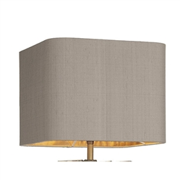 David Hunt Lighting ZUM1072/BZ Zumin Truffle Silk Shade with Bronze Laminate